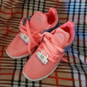 Girls LA Gear Pink/Coral Sneakers Size 3